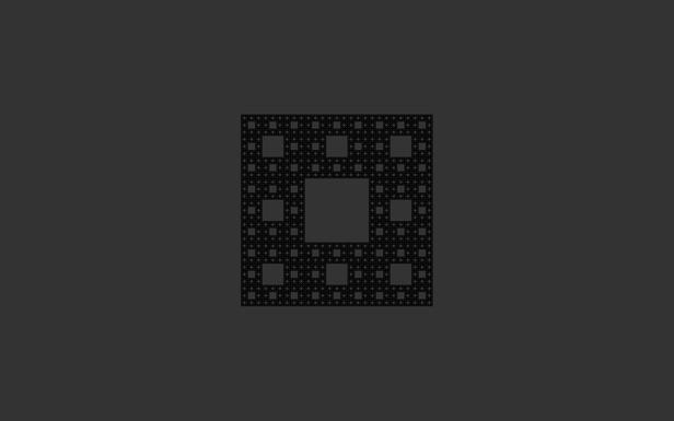 Dark Fractal Square