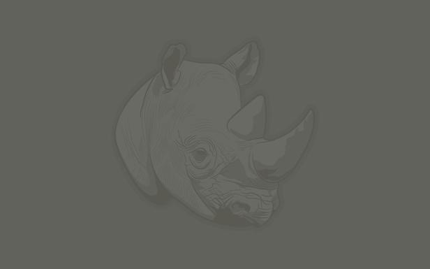 Thoughtful Rhino