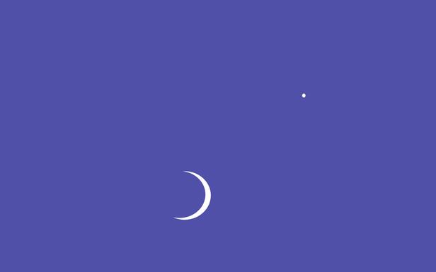 Crescent Moon And Venus By Ahava Simple Desktops