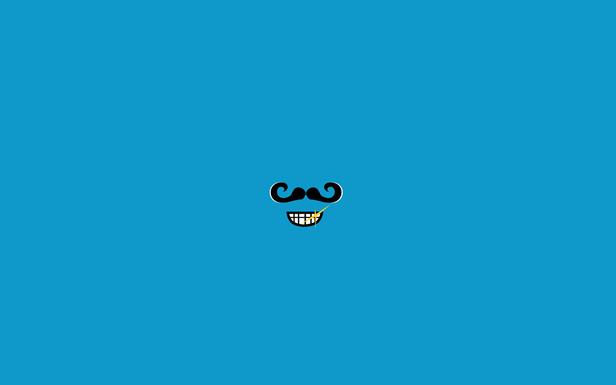 A Moustache's Grin