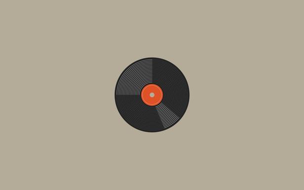 Vinyl record by daniel waldron simple desktops for Vinyl wallpaper