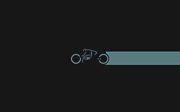 Tron Light Cycle Blue