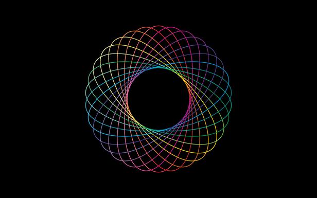 Rainbow Spirograph