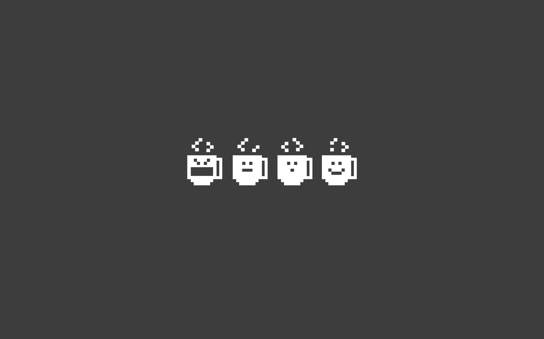 Coffee Pixels Wallpaper Nexuswallpapers